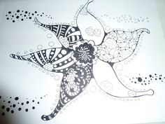 This is my vision of a star fish, although if I tried to duplicate it that would then be my vision of a star fish;)