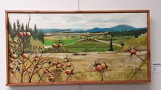 Howard Buford Park Rose Hips Oil Paintings, Oil On Canvas, This Or That Questions, Park, Rose, Outdoor, Outdoors, Pink, Painted Canvas