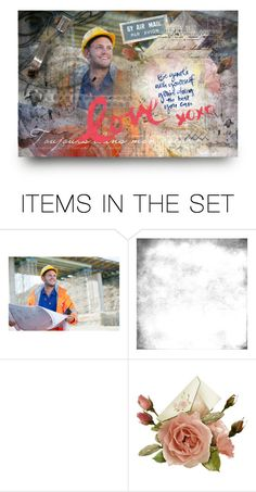 """""""postcard for a friend"""" by sharmarie ❤ liked on Polyvore featuring art"""