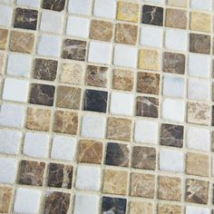 Merola Tile Griselda Mini Sand 12 in. x 12 in. x 9 mm Natural Stone Mosaic Wall Tile-FXLGRMNS - The Home Depot