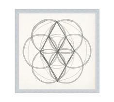 Neutral Sacred Geometry Framed Prints #potterybarn