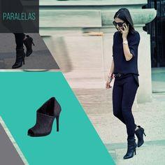 Quem não ama aquele look all black, finalizando com um ankle boot super estilosa?