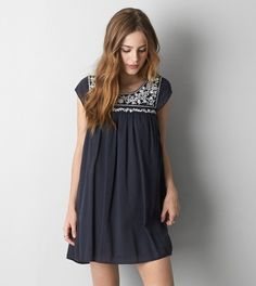 Black AEO Tie Back Shift Dress ....I really need this!!!!