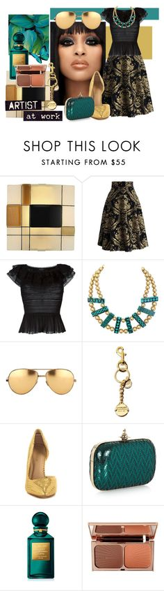 """""""Artist at Work"""" by wuteringheights ❤ liked on Polyvore featuring Chicwish, Alexander McQueen, Linda Farrow, Moschino, Liliana, Vivienne Westwood, Tom Ford, Charlotte Tilbury, women's clothing and women"""