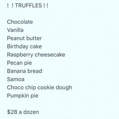 Truffles flavors and prices as follows.. PERFECT FOR ALL OCCASIONS #arancini #riceballs #traditional AND #nonTraditional #homemade #handmade #freshtoOrder #madeWithLove #queens #statenisland #foodie #foodporn #goodeats #nom #italianfood #delicious #truffles #leahsitalianapples #sicilian #deepfried #goldenbrown #notyourNonnas #reinventingRiceballs #supportLocalBusiness #followyourdream #cheesy #eeeeeats #catering #foodilysm #fuckthatsDelicious