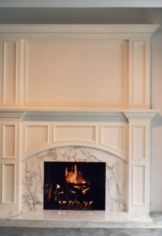 Painted traditional mantle