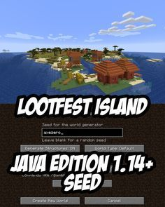 Minecraft Loot Seed (2 shipwrecks buried treasure etc