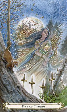 5 d'épées - Le Conte de Fées de Tarot par Lisa Hunt