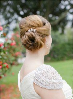 elegant wedding hair #weddinghair #bride #weddingchicks http://www.weddingchicks.com/2014/02/10/elegant-valentines-day-ideas/