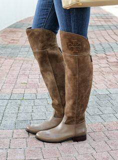 Tory Burch Knee-High Leather Boots visa payment sale online cheap genuine yjF8U90Kr