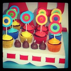 Cupcakes coloridos!