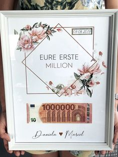 Wedding gift - A monetary gift for the wedding is in the-Hochzeitsgeschenk – Ein Geldgeschenk für die Hochzeit ist immer schwierig und i… Wedding gift – A money gift for the wedding is always difficult and in one … – gift - Diy Presents, Diy Gifts, Don D'argent, Diy Pinterest, Birthday Gifts, Happy Birthday, 25th Birthday, Sister Birthday, Diy Wedding Gifts