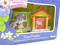 http://www.browneyedrose.com/collections/plum-puddin-elderberry-owl/products/mib-plum-puddin-with-elderberry-owl-work-at-the-blackboard-miniature-set-rare