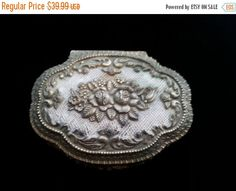 NOW ON SALE Vintage Ornate Gold Tone Flowered by MartiniMermaid