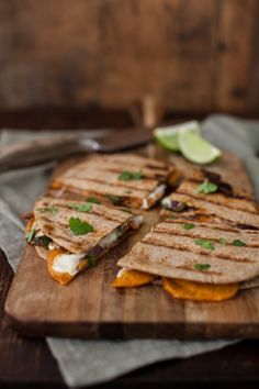 Buffalo chickpeabella baked avocado quesadilla