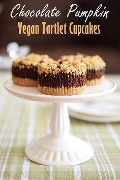 Chocolate Pumpkin Tartlet Cupcakes Recipe (vegan, gluten-free, dairy-free, nut-free and soy-free!)