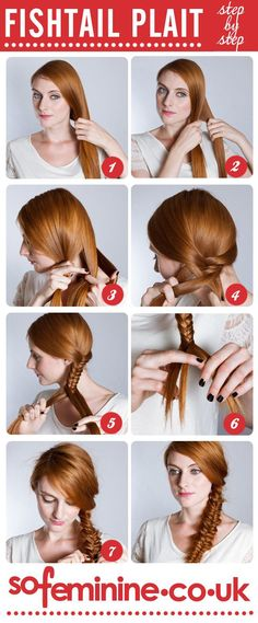 DIY Ideas Hair & Beauty : The fishtail plait is a must-have hair do this season. Try it out: www.sofemini