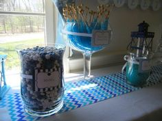 'Something blue' shower candy bar