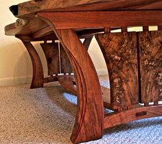 Love the legs on this table--Live Edge Furniture | Louis Fry / A Furniture Maker's Blog