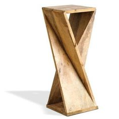 Turned Wood Table Base Unfinished Wooden Table Bases One Board Twisted Side Table For 6 Wood Pedestal Table Base For Sale Pallet Furniture, Furniture Projects, Wood Projects, Furniture Design, Furniture Plans, Design Projects, Into The Woods, Geometric Solids, Geometric Origami