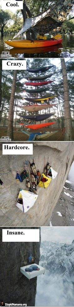 lol.. That 3rd one looks kind of fun actually. I wonder how seasoned of a climber you have to be?