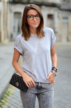 Looking for new glasses. Outfit's pretty cute as well - oversize black eyewear $39.95 @OzealGlasses