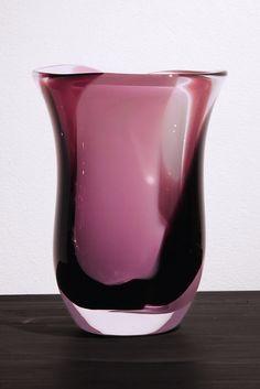 Mouth blown unique vase by master glassblower Kari Alakoski.