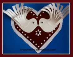 валентинка Christmas Art Projects, Diy Projects To Try, Paper Crafts, Valentines, Birds, Peace, Festivals, Tableware, Holiday
