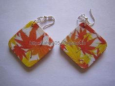 Handmade Jewelry - Card Paper Earrings  (22)