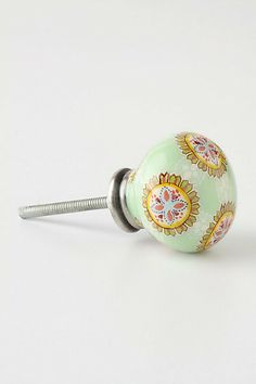 Home spruce- up idea: change out some knobs -- even Anthropologie has some treasures in their sale bins.(contemporary knobs by Anthropologie) Knobs And Knockers, Knobs And Handles, Door Knobs, Dresser Knobs, Cabinet Knobs, Grey Dresser, Wood Dresser, Dresser Drawers, Wedding Tattoos
