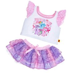 MY LITTLE PONY Skirt Outfit 2 pc. - Build-A-Bear Workshop US