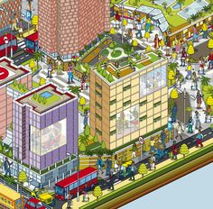 Bhartiya City - City of Joy - Advertising Campaign Map. Realized by Rod Hunt