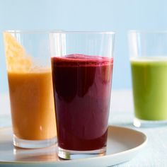 Boxer's Beet Juice, Fresh Apple-Celery Juice, and Carrot-Mango Lassi Recipes Apple Smoothies, Healthy Smoothies, Healthy Drinks, Smoothie Recipes, Morning Smoothies, Lassi Recipes, Morning Drinks, Healthy Shakes, Green Smoothies
