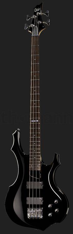 ESP LTD F-104 E-Bass schwarz