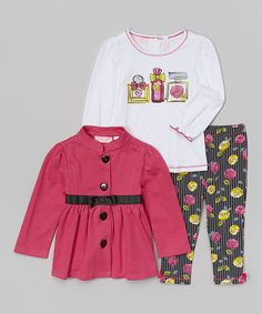 Look at this Fuchsia Swing Coat Set - Infant, Toddler