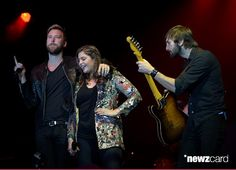 (L-R) Recording artists Charles Kelley, Hillary Scott and Dave Haywood of music group Lady Antebellum perform onstage during the ACM Lifting Lives Gala at the Omni Hotel on April 17, 2015 in Dallas, Texas.