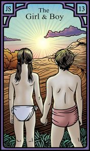 The Girl and Boy for the Burning Serpent Oracle, Robert M Place