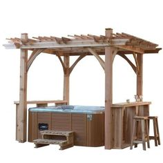 Spa breeze shelter with walk up bar