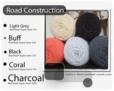 Red Heart Super Saver Color Mix: ROAD CONSTRUCTION