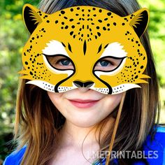 Cheetah Mask Printable Jaguar Leopard Animal by LMEprintables