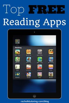 A super list of FREE Reading Apps. Perfect for educators.