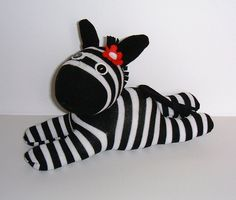 Sock Zebra by Treacher Creatures, via Flickr
