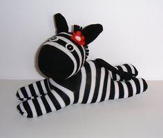 Sock Zebra by Treacher Creatures, via Flickr