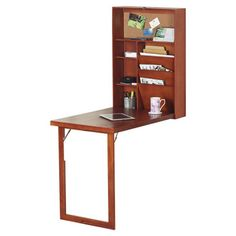 Wall-mounted hideaway desk - Furniture and accessories that make the most of small living space 3 Living Rooms, Living Spaces, Wall Storage, Storage Spaces, Storage Ideas, Small Space Living, Small Spaces, Small Desks, Fold Away Desk