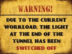 Warning, Ligth has been switched off - 20x15cm
