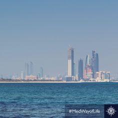 Predivna panorama grada #AbuDhabi. #MSCMusica