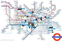 london top tourist attractions map tube with points of interest