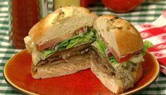 the chew | Recipe  | Daphne Oz's Tempura Mushroom Burger