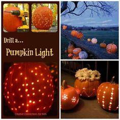 Cool idea: drill a pumpkin!