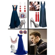"""Formal Captain America"" by searwyntelemnar on Polyvore"